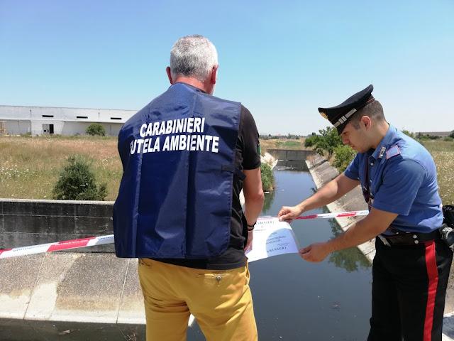 Cerignola. La Procura della Repubblica ottiene il sequestro del Canale Lagrimaro. I Carabinieri del NOE pongono i sigilli