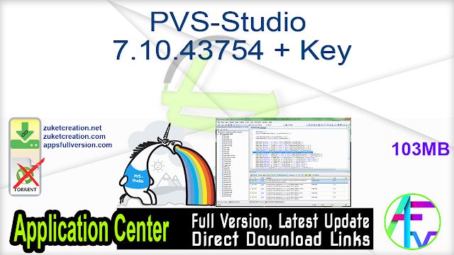 PVS-Studio 7.10.43754 + Key