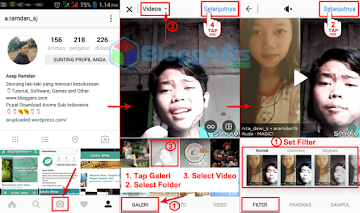 Upload Hasil Video Smule ke Instagram