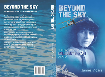 Book cover, Beyond the Sky