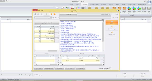 دورة تصميم برنامج للعقارات مجانا باستخدام برنامج اكسترا -اضافة  خيارات التقرير- 16