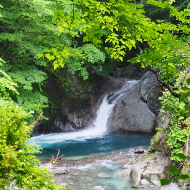 西沢渓谷 不動の滝