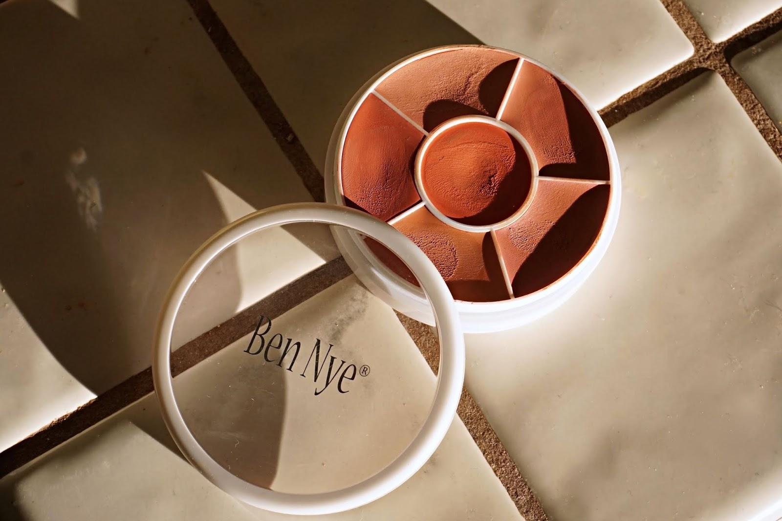 Ben Nye Creme Rouge Wheel in Natural Glow swatches
