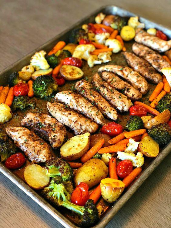 One Pan Balsamic Chicken #recipes #dinnerrecipes #quickdinnerrecipes #deliciousdinnerrecipes #quickanddeliciousdinnerrecipes #food #foodporn #healthy #yummy #instafood #foodie #delicious #dinner #breakfast #dessert #lunch #vegan #cake #eatclean #homemade #diet #healthyfood #cleaneating #foodstagram