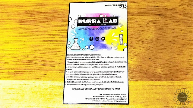 Bubba Lab Philippines - Bubba Lab Summer Lab`in Color Splash Bond Card - Picture (www.TheGracefulMist.com)