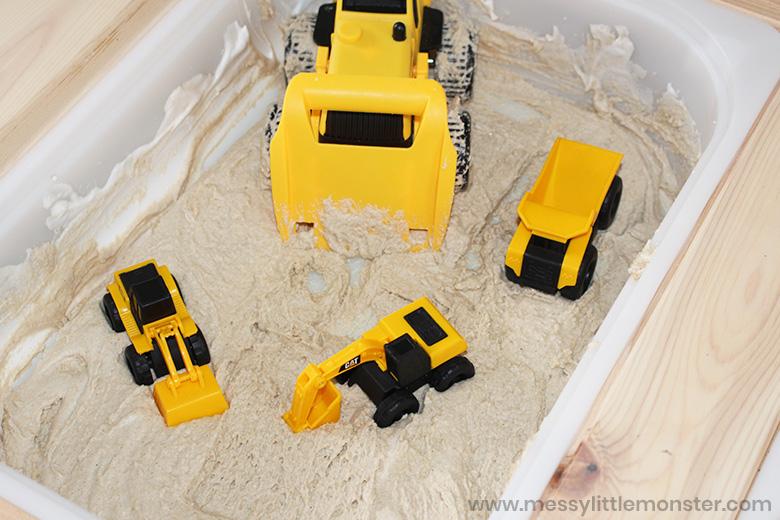 Sand foam sensory bin ideas
