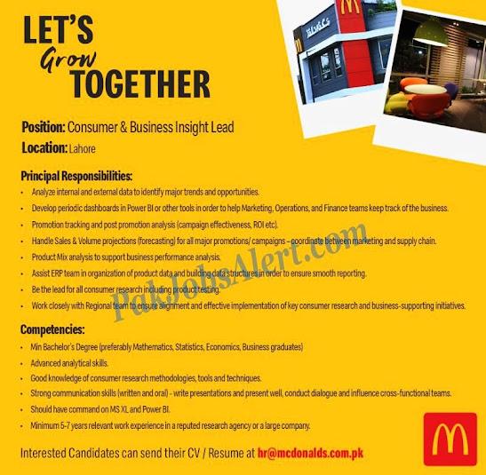 McDonalds Pakistan 2021 Latest Jobs