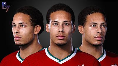 PES 2021 Faces Virgil Van Dijk by LR7
