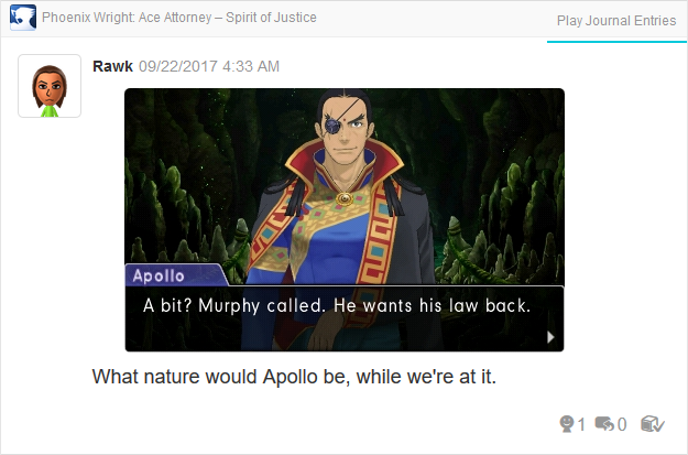 Phoenix Wright Ace Attorney Spirit of Justice Apollo Murphy's Law