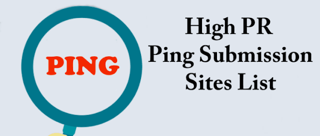 Free Ping Submission Sites List 2019