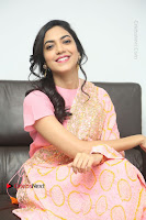 Actress Ritu Varma Pos in Beautiful Pink Anarkali Dress at at Keshava Movie Interview .COM 0292.JPG