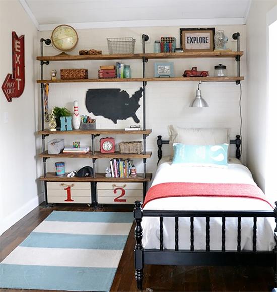 estante com cano, pipe shelves, estante, faça você mesmo, diy, a casa eh sua, acasaehsua, móvel, armário, quarto de menino