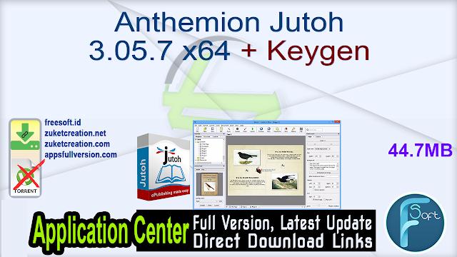 Anthemion Jutoh 3.05.7 x64 + Keygen