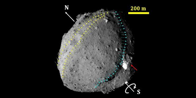 Asteroid Ryugu. Credit: Seiji Sugita et al., Science