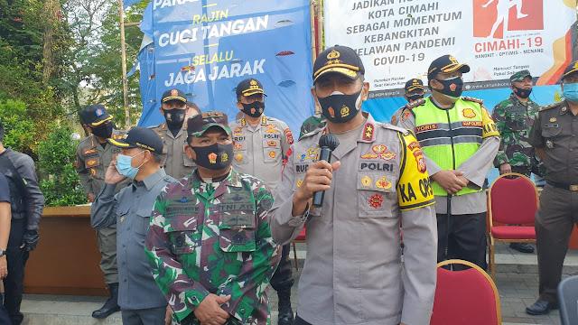 Kapolda Jabar Cek Langsung Pelaksanaan Operasi Yustisi Di Kota Cimahi