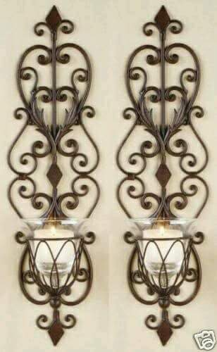 amazing wall sconces candles wrought iron