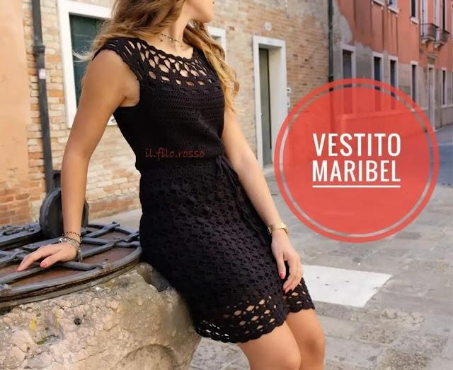 """Vestido """"Maribel"""" a Crochet"""