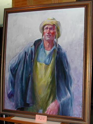 Quirk Art, Francis Quirk Fisherman, Quirk painting, fishermen Image Francis Quirk