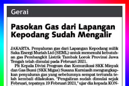 Gas Supply from Kepodang Field Has Been Flowing