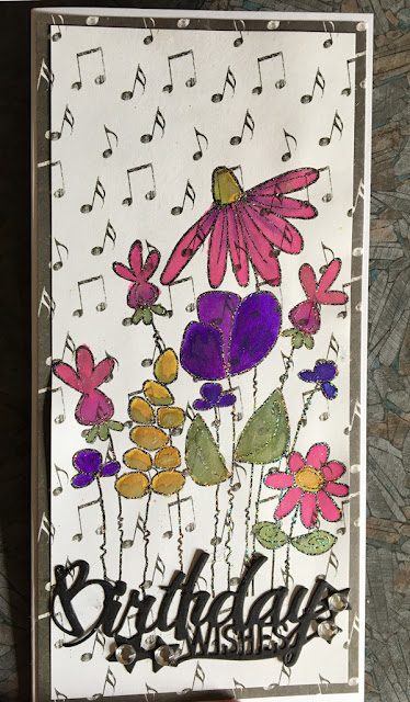 Happy Birthday musical flower card