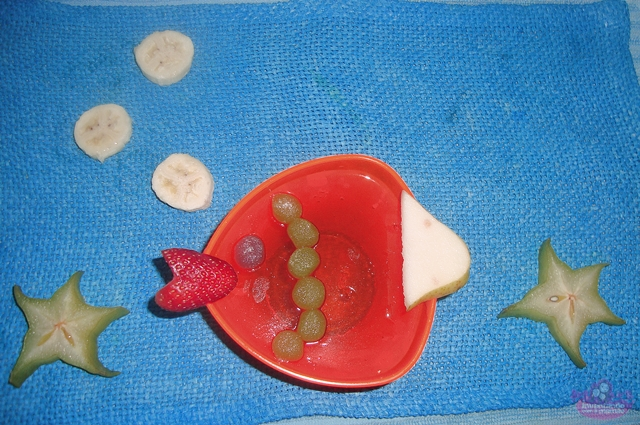 Comida divertida gelatina do fundo do mar