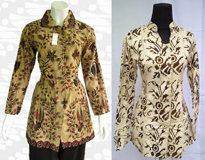 Model Baju Batik Kerja Guru Lengan Panjang