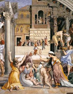 """""""Incendio de Borgo"""", afresco de Raffaello nos aposentos papais (Museus Vaticanos)"""