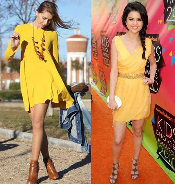 Como podemos combinar un vestido amarillo ?
