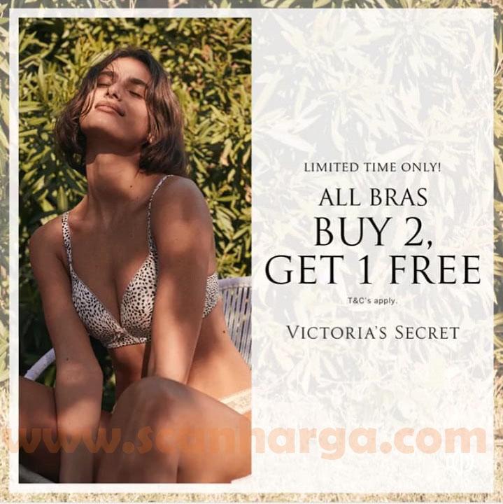 Promo Victoria's Secret Buy 2 Get 1 Free for All Bras