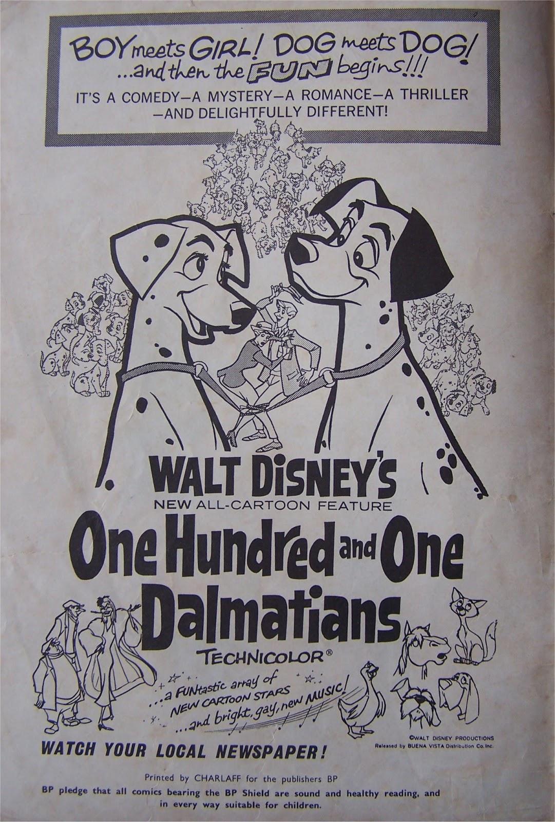 South African Comic Books Bp Walt Disneys 101 Dalmations-6306