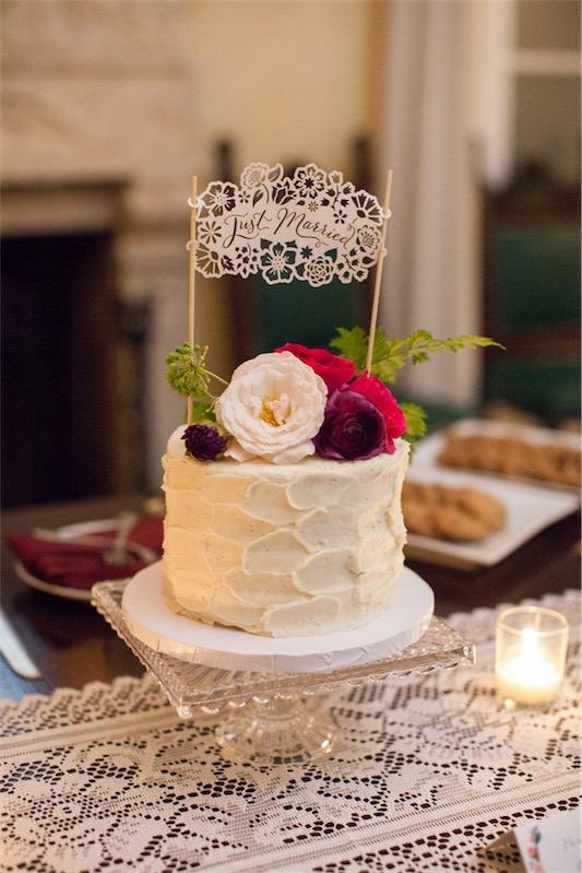 tarta nupcial boda decorada en fucsia y esmeralda chicanddeco