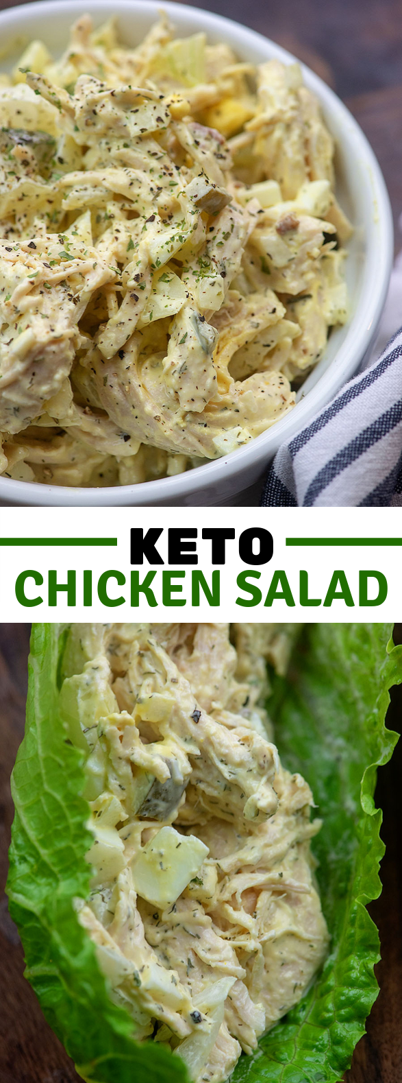 KETO CHICKEN SALAD #lowcarb #healthy