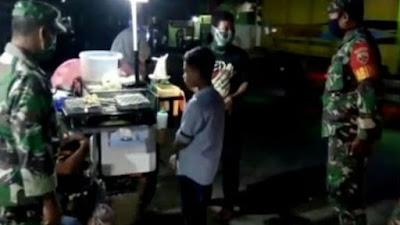 Koramil Beserta Jajarannya Gelar Patroli Malam Ingatkan Protokol Kesehatan