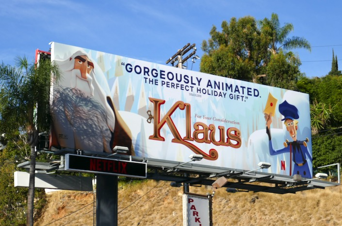 Klaus movie For consideration billboard