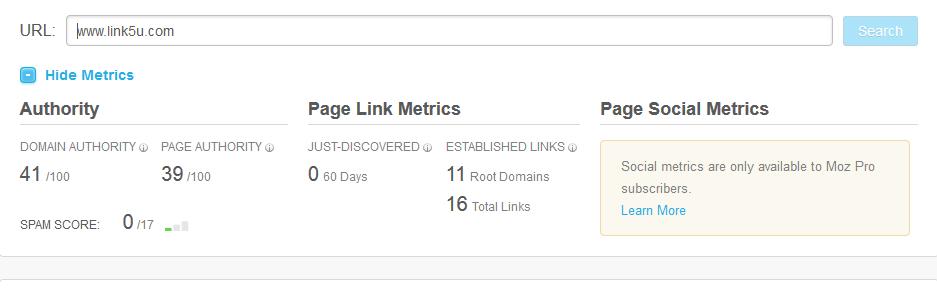 ukuran DA dan PA beserta spam score blog ini