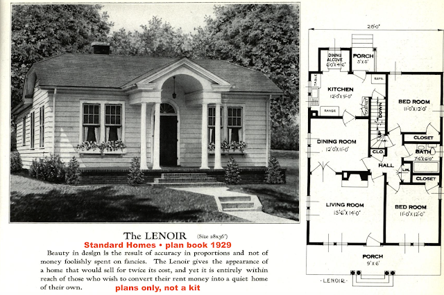 catalog image of lookalike to Sears Crescent, by Standard Homes: Lenoir, 1929