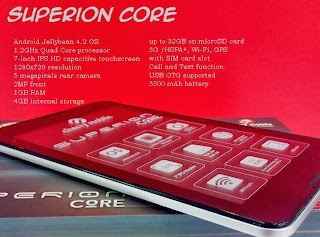 Cherry Mobile Superion Core Call and Text Tablet with SIM Card