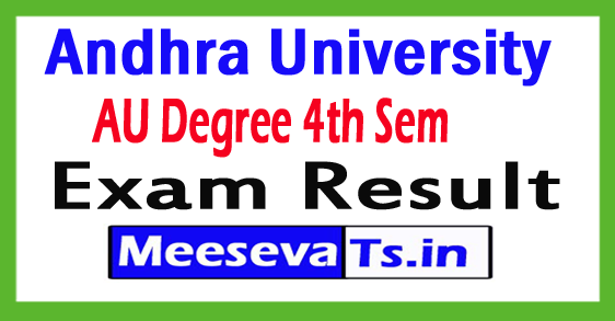 Andhra University Degree 4th Sem Results 2017