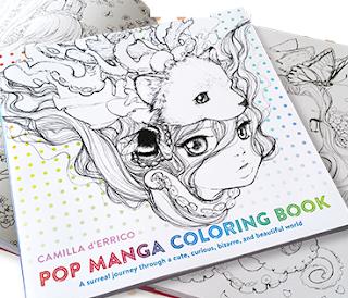 pop manga coloring bk cover