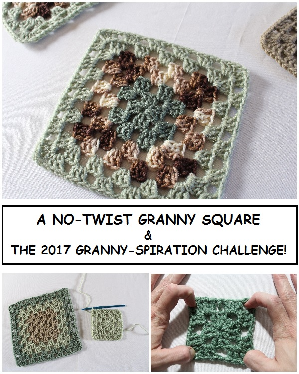 crochet, granny square, granny stitch, no-twist, tip, tutorial, video, Granny-Spiration Challenge 2017, linkup, giveaway