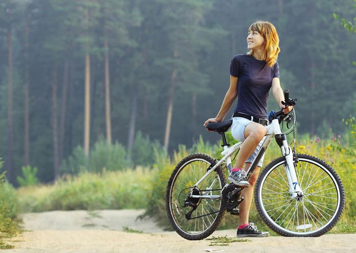 girl on a bike