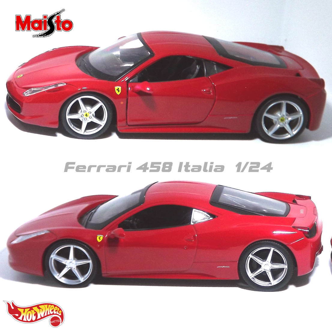 Ferrari 458 Itália Die-cast (Maisto x Hot Wheels)