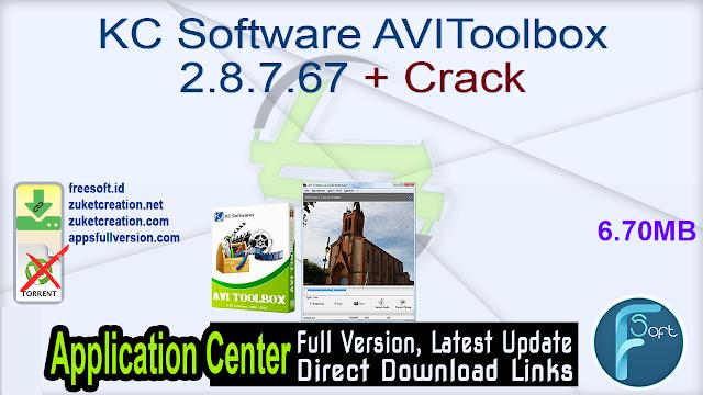 KC Software AVIToolbox 2.8.7.67 + Crack