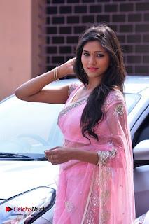 Telugu Actress Shalu Chourasiya Stills in Cute Pink Saree at Pochampally IKAT Art Mela  0002.jpg