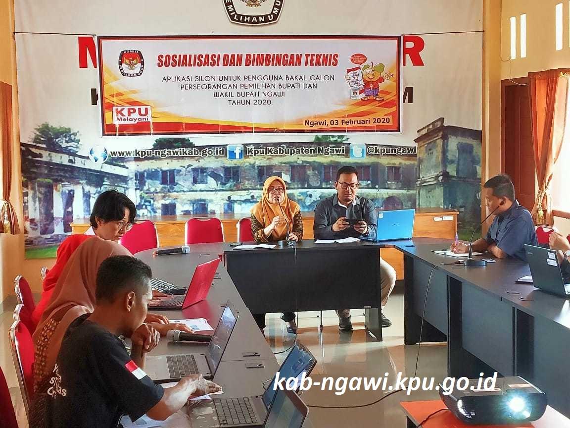 KPU Ngawi Laksanakan Sosialisasi dan Bimtek Aplikasi SILON Untuk Pengguna Perseorangan