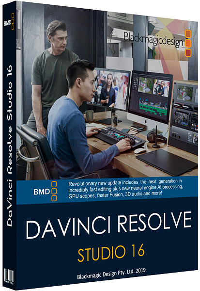Blackmagic Design DaVinci Resolve Studio 16.2.2.11 poster box cover