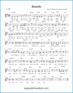 chord bluesette lagu jazz standar