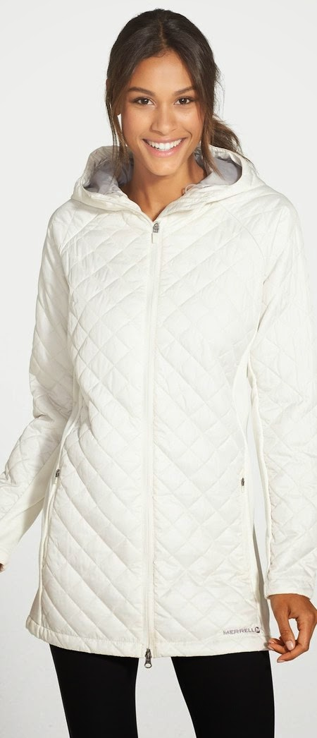 Merrell 'Soleil Mixer' Hooded Quilted Coat