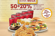 Wendys Promo Mid of the Month with Bank Mega Diskon 50%+20% Hari Ini