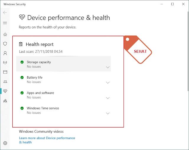 Windows 10 Kalian Sehat ? Begini Cara Mengetahuinya